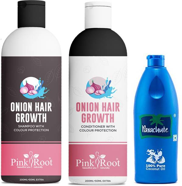 PINKROOT Onion Shampoo & Conditioner With Coconut Hair Oil