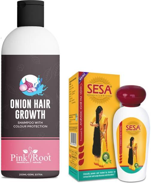 PINKROOT Onion Hair Growth Shampoo With Sesa Ayurvedic Oil