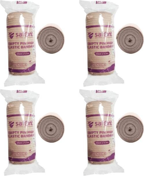 safent Skin Color Empty Pin High Elastic Bandage - 6 Inch - (15cm*4.5M) (Set Of 4) Crepe Bandage