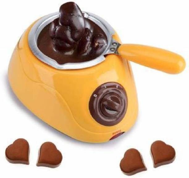 ALAMPAR Portable Electric Chocolate Melting Pot with Chocolate Making Kit for Kitchen Round Electric Pan
