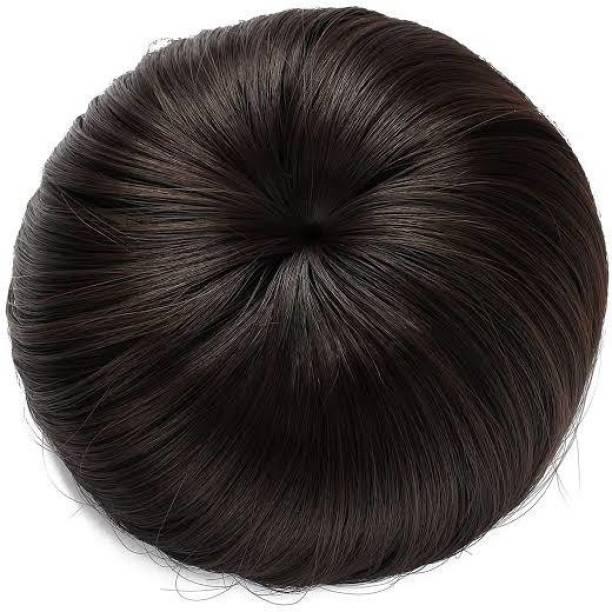 Gauri Uma Hair Style Plan simple hair Juda Brown color Hair Extension