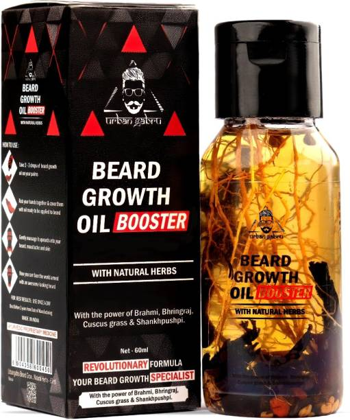 urbangabru Beard Growth Oil Booster Enriched with Natural Herbs - 60 ml Hair Oil