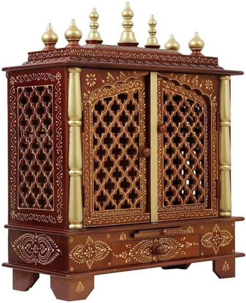 CRAFTSFORT (Mandir) Temple for Home Pooja, Arti Solid Wood Home Temple