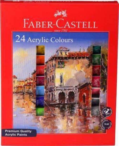 FABER-CASTELL 24 Acrylic Colours X 9ml