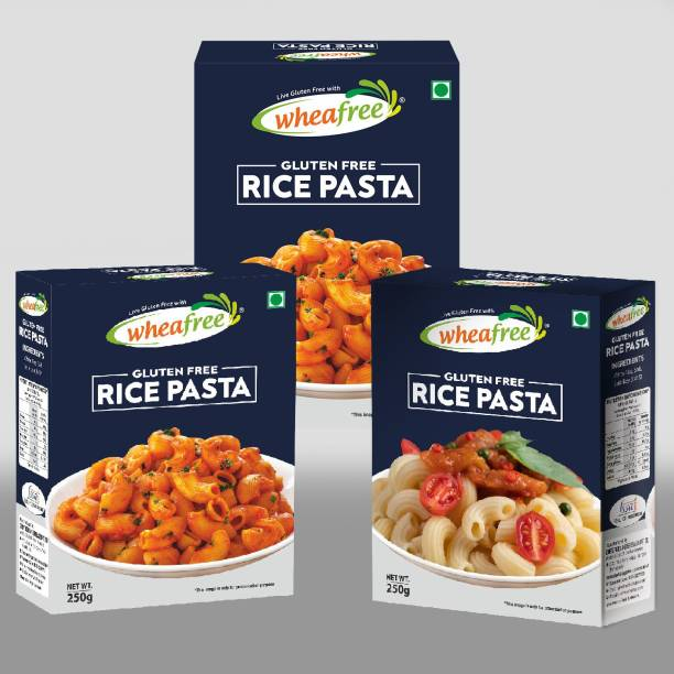 wheafree Gluten Free Rice Pasta - Pack of 3 (250g each) Macaroni Pasta