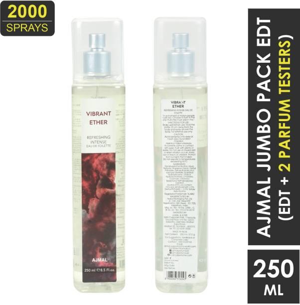 Ajmal Vibrant Ether - 2000 Sprays Eau de Toilette - 250 ml (For Men & Women) Eau de Toilette  -  250 ml
