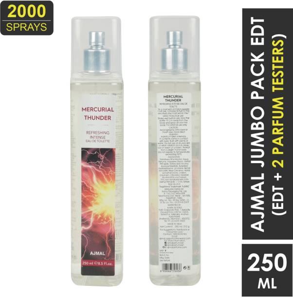 Ajmal Mercurial Thunder - 2000 Sprays Eau de Toilette - 250 ml (For Men & Women) Eau de Toilette  -  250 ml