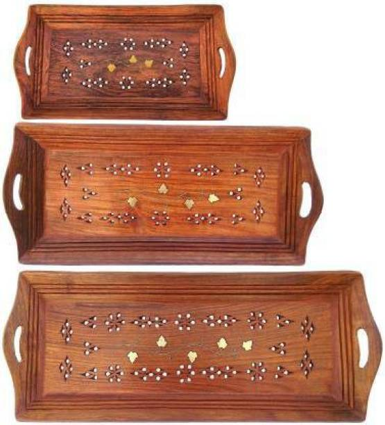 Heena Engineers Wooden Coffee Tray Set for kitchen Tray