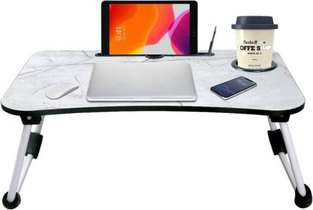 TNV ENTERPRISE MATT BLACK Wood Portable Laptop Table