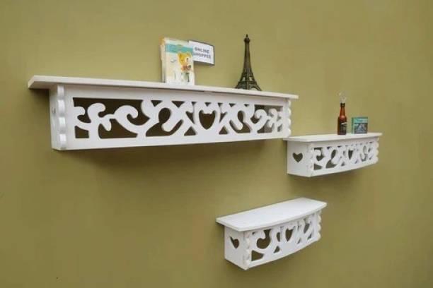 Flipkart Perfect Homes Wooden Wall Shelf