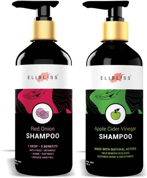 ELIBLISS Red Onion Shampoo + Apple Cider Vinegar Shampoo Best Anti dandruff And Hair fall Control Shampoo.