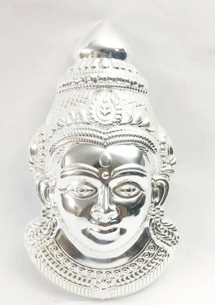 lugade's Silver Coated Lakshmi Mukhota Decorative Showpiece  -  21 cm