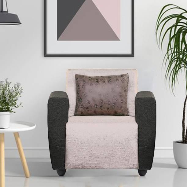Flipkart Perfect Homes Poppy Fabric 1 Seater  Sofa