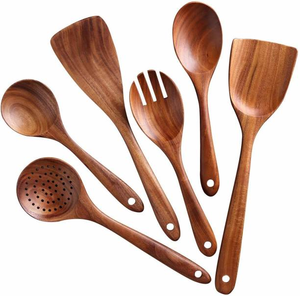 Natural Life Care on-Stick Pan Kitchen Tool Wooden Wooden Table Spoon Set