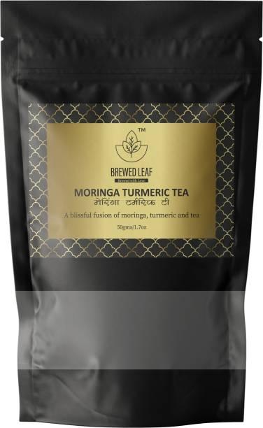 brewed leaf MORINGA TURMERIC TEA Infusion Tea Vacuum Pack