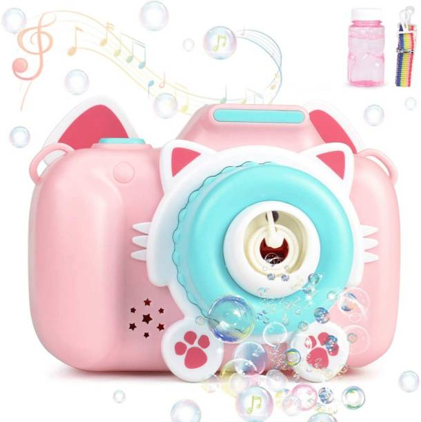VikriDa Bubble Machine Toys, Camera Bubble Blower for Kids Toddlers with 1 Bubble Solution and Music Sounds Rich Bubble Over 1000 Bubbles Per Minute for Parties, Wedding, Outdoor Toy Bubble Maker