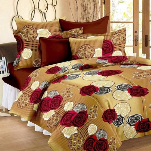 Home Garage 144 TC Microfiber Double Printed Bedsheet