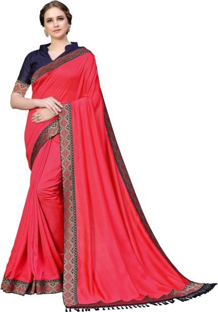 Sanku Fashion Solid, Embellished Bollywood Cotton Silk, Art Silk Saree