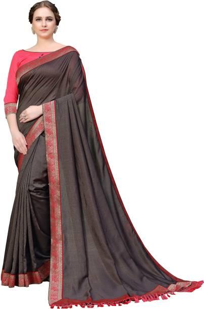 Sanku Fashion Solid, Embellished Fashion Cotton Silk, Art Silk Saree