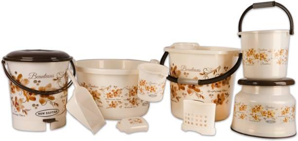 New kaptan Delux Jumbo Bathroom Set 25 L Plastic Bucket