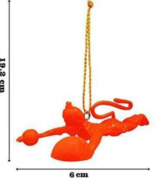 Accedre Orange Flying Lord Hanuman Idol Car Hanging Ornament Car Hanging Ornament