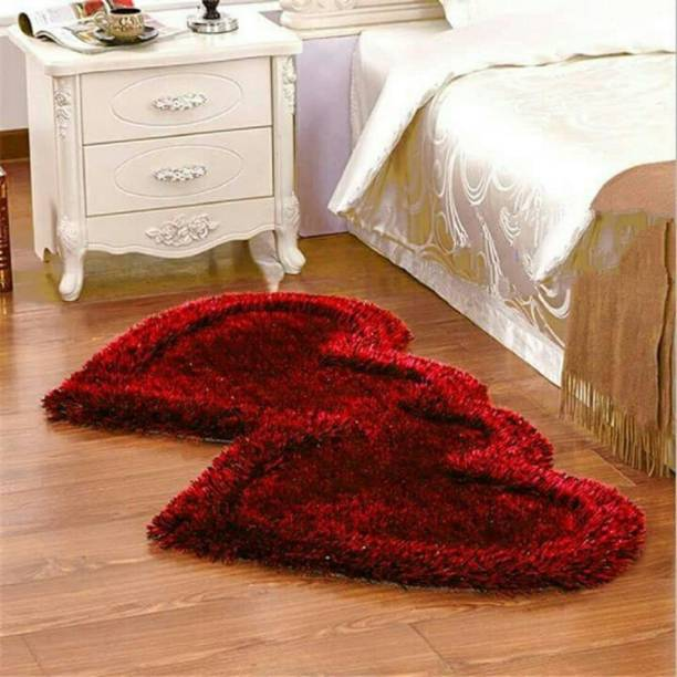 aradhaya Red Polyester Runner