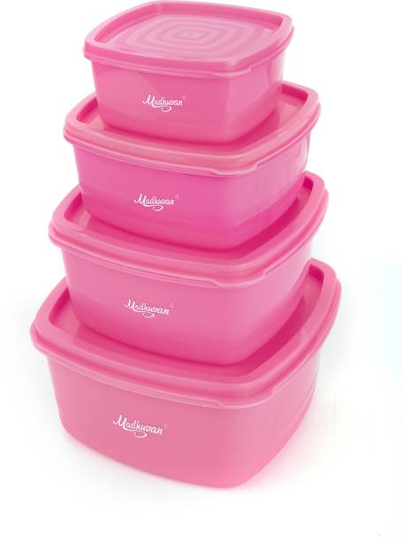 Madhuvan Air Tight Container  - 500 ml, 1350 ml, 250 ml, 750 ml Plastic Fridge Container