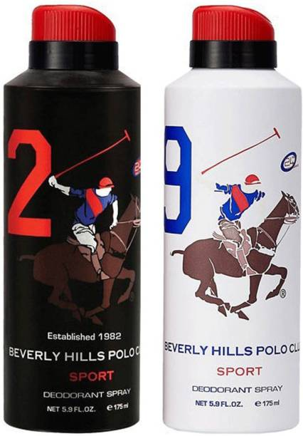 BEVERLY HILLS POLO CLUB Sport Deo no. 2 and 9 Deodorant Spray  -  For Men
