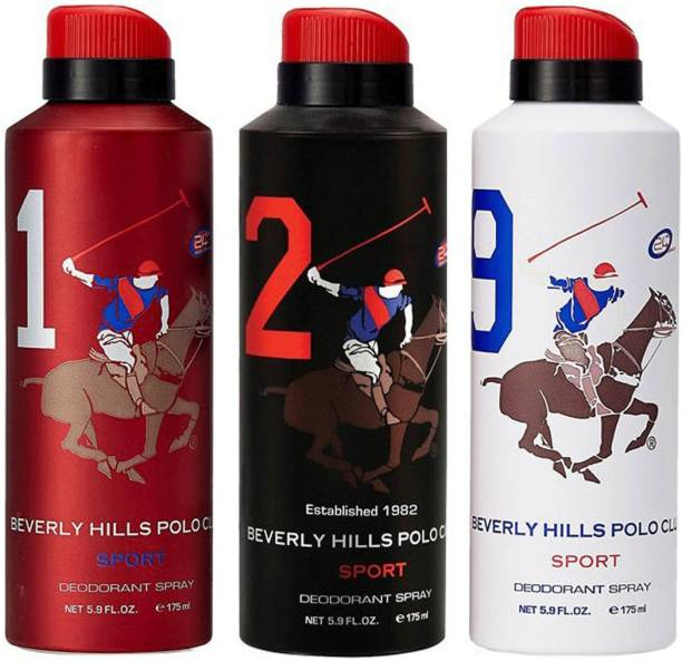BEVERLY HILLS POLO CLUB Sport Deo 1, 2, 9 Deodorant Spray  -  For Men