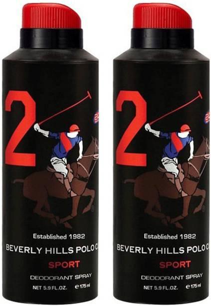 BEVERLY HILLS POLO CLUB Combo Deodorants No.2X2 Deodorant Spray  -  For Men