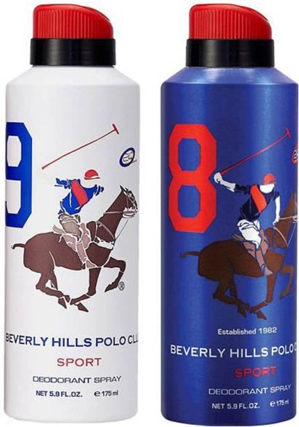 BEVERLY HILLS POLO CLUB Combo Deodorants No 8 & 9 Deodorant Spray  -  For Men