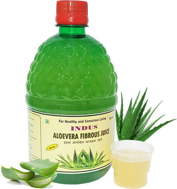 Indus research labs Indus Aloevera Fibrous Juice   Natural Juice   With Pulp   Weight Loss   Hair Fall   Skin   -800ML