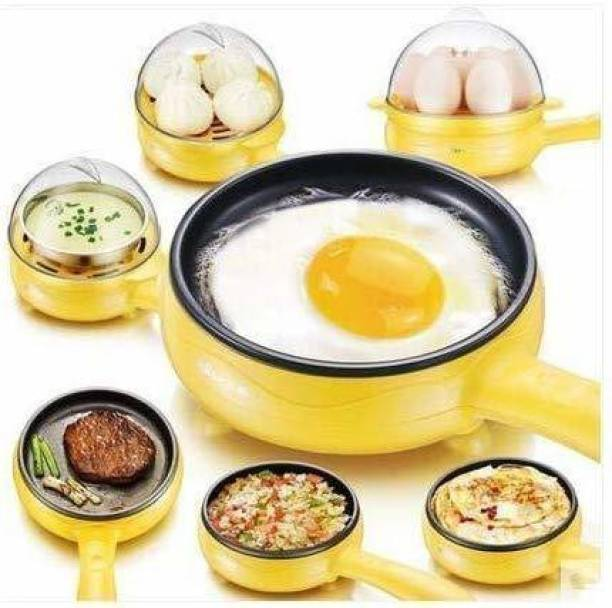 Mandani enterprise Multi-Function 2 in 1 Electric Egg Boiling Steamer Egg Frying Pan | Automatic Off with Egg Boiler Machine Non-Stick Egg Cooker