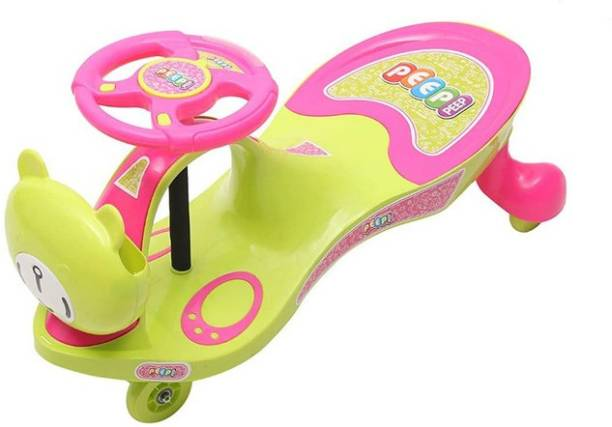 Peep Peep Scratch Free Twister Magic Swing Cars for Kids with Light and Sound Functions Rideons & Wagons Battery Operated Ride On