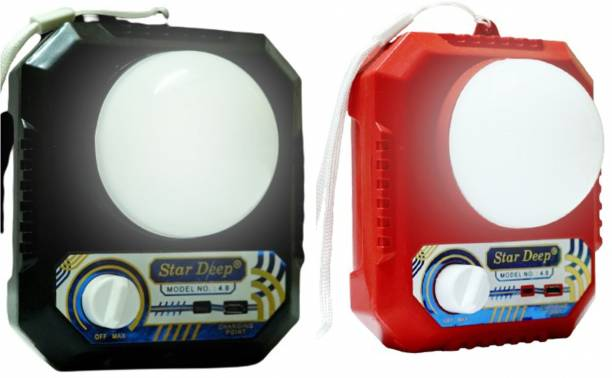 STARDEEP SD NIGHT LEMP 4.O WITH SOLAR AND 2000MAH BATTERY Emergency Light (Black and Red) Torch Emergency Light