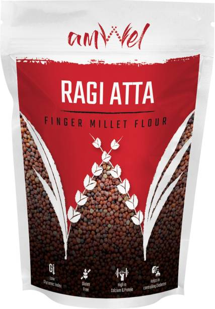 Amwel Ragi Atta (Finger Millet Flour) - Pack of Two [500g x 2 units = 1kg]