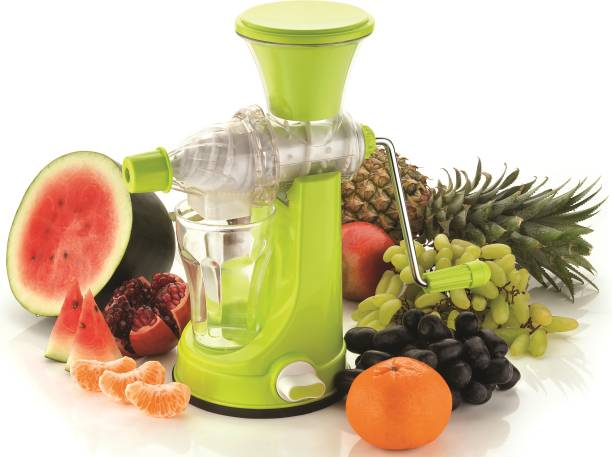 MYYNTI Plastic Hand Juicer Fruit and Vegetable Manual Juicer with Steel Handle Hand with Vacuum Unit Locking System Machine for Home