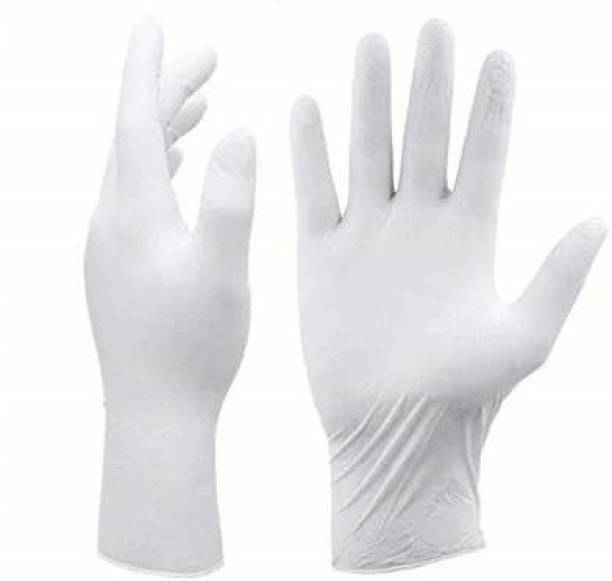 Shop & Shoppee White Latex Non-Sterile Medical Examination Disposable Hand Gloves ( Waterproof / Washable / Reusable) (40 Gloves) Latex Examination Gloves