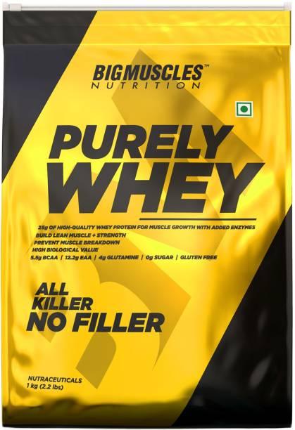 BIGMUSCLES NUTRITION Purely Whey | Isolate Whey Matrix 25g Protein, 12.2g EAA, 4g Glutamine, 0g Sugar Whey Protein