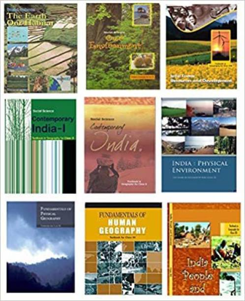 NCERT Textbooks Geography 6th To 12th In English Medium(Geography ) Combo Set (9 Booklets)