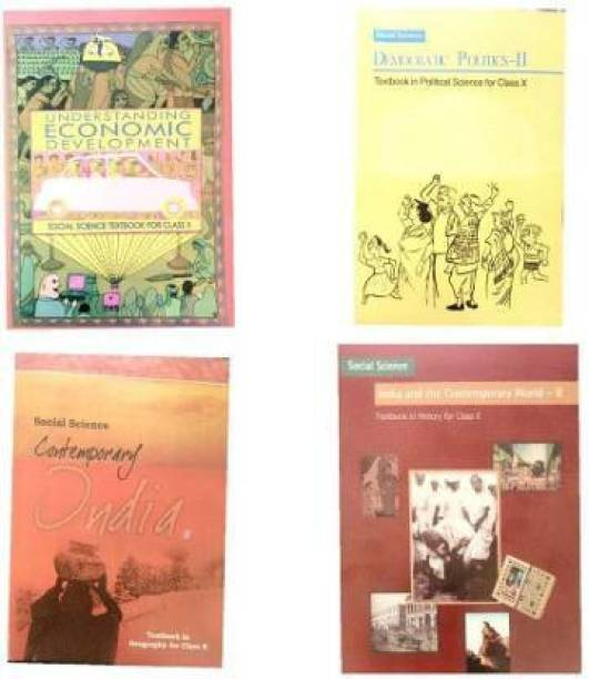 Combo Of 4 Books Of SOCIAL SCIENCE For Class 10 NCERT( HISTORY, GEOGRAPHY, CIVICS, ECONOMICS)