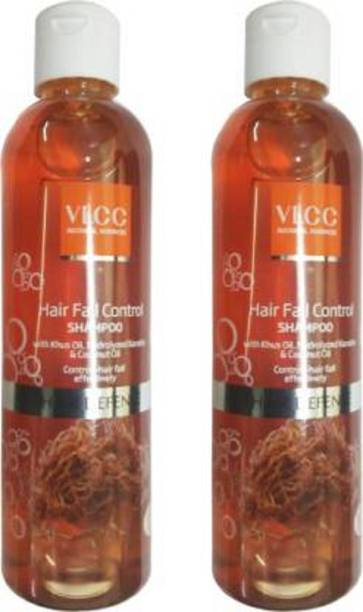 VLCC Hair Fall Control Shampoo Pack of 2 Men & Women (700 ml)