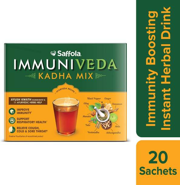 Saffola Immuniveda Kadha Mix, Ayurvedic Immunity Booster with Ayush Kwath