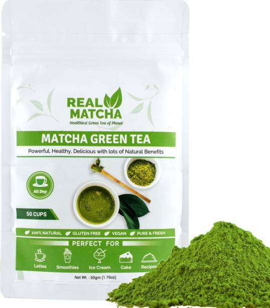 Real Matcha Green Tea Powder for Weight Loss - Best for Making Matcha Tea, Lattes, Smoothies, Baking & Ice Cream - (Powerful Body Detoxifier, Antioxidant, Fat Burner, Increase Energy & Focus), Origin Japan (50 Cups) Unflavoured Matcha Tea Pouch