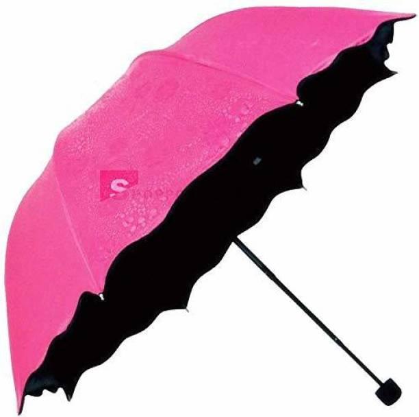 FIREFLY HUB riple Folding Mini Blossom Magic Compact Umbrella for Girls and Women (Multi Color) (1) Umbrella