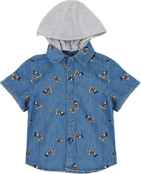 Pantaloons Baby Baby Boys Printed Casual Blue Shirt