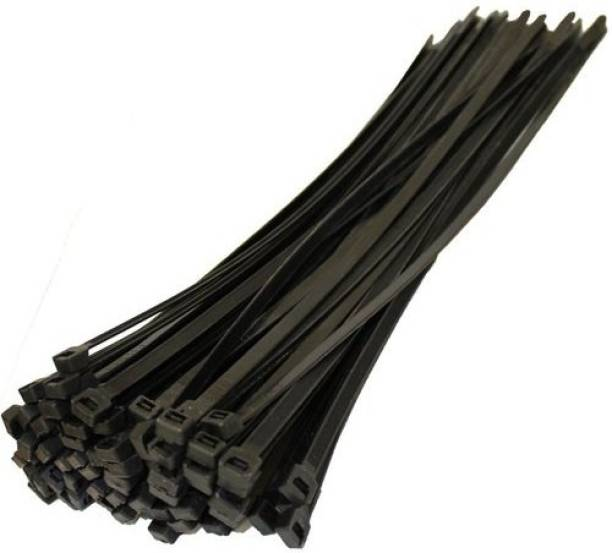 """Leyden 300 Pcs 6"""" INCH CABLE TIES 150 MM*2.5 MM BLACK NYLON ZIP WIRE ORGANISER STANDARD QUALITY FLEXIBLE SELF LOCKING TIE Nylon Flexible Straps Cable Tie (Black Pack of 300) Nylon Standard Cable Tie"""
