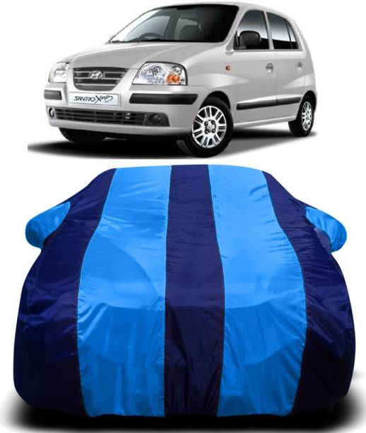 S SHINEMAX Car Cover For Hyundai Santro Xing (With Mirror Pockets)