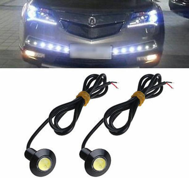 CSGLARE LED-23MM LED Eagle Eye Day Time Running Pilot Lamp (5W) (White with Out Flash) Car Fancy Lights