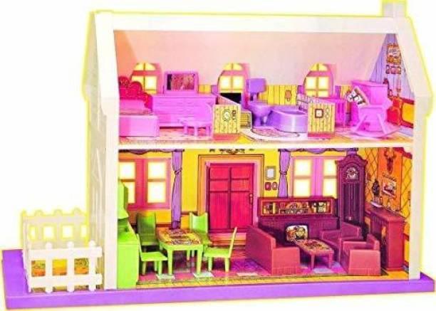Vasoya Enterprise Beautiful Doll House Play Set with Furniture (34 Pcs)1
